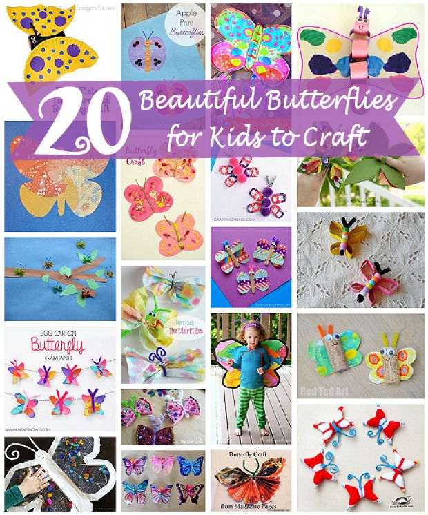 20 Beautiful Butterfly Crafts for Kids