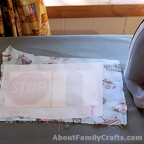 How to slip the cards under fusible paper