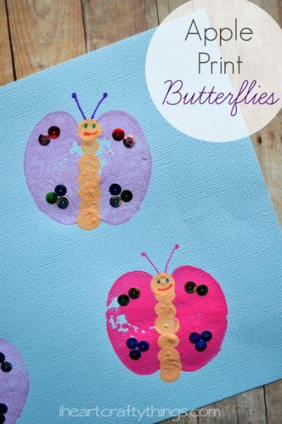 Apple Print Butterfly