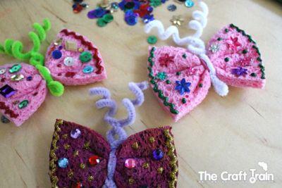 Butterfly Sponge Magnets