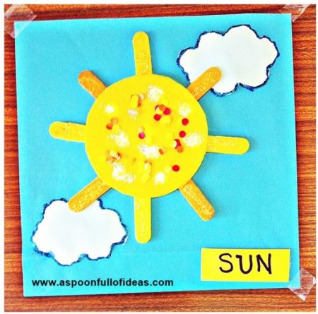 Craft Stick Sun