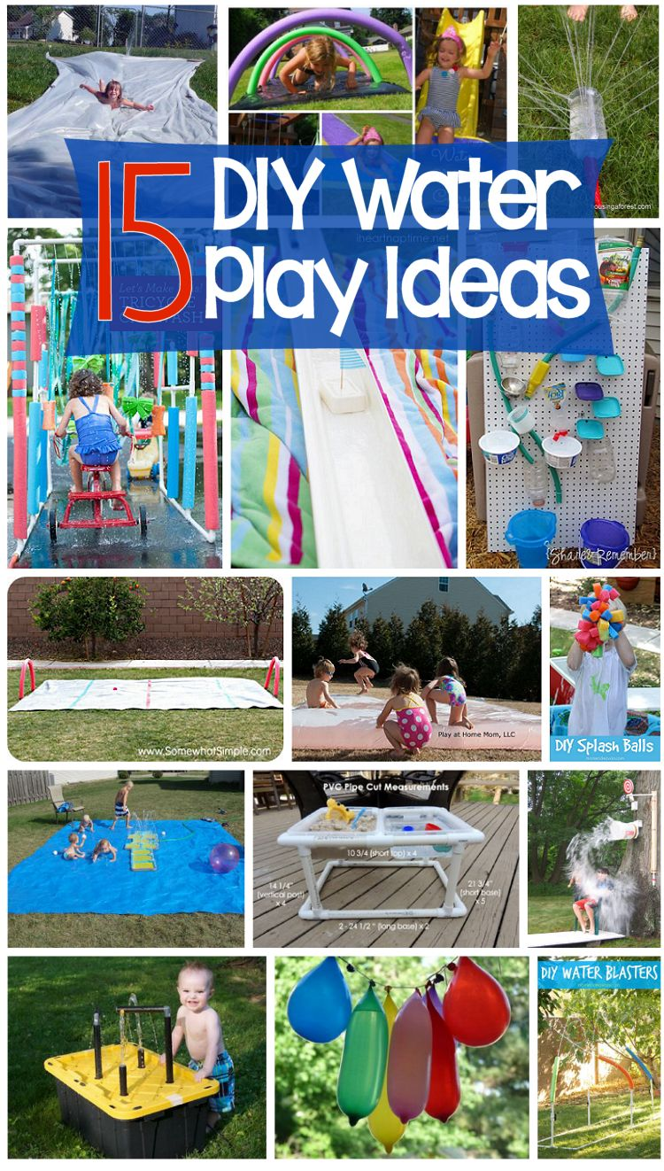 15 diy water play projects about family crafts for Fun at home projects