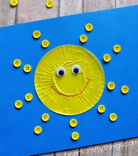 Cupcake Liner Sun Craft