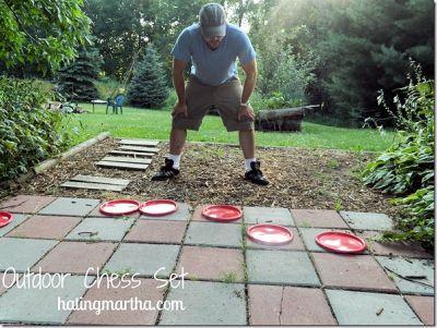 Outdoor Chess or Checker Set