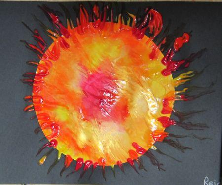Squish Paint Art Sun