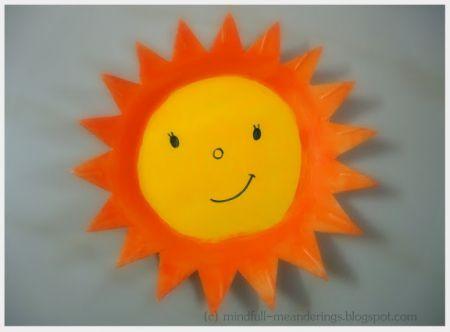Styrofoam Plate Sun