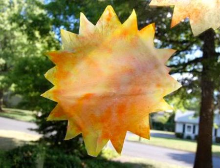 Tie Dyed Sunshine Ornaments
