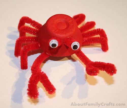 DIY Egg Carton Crab