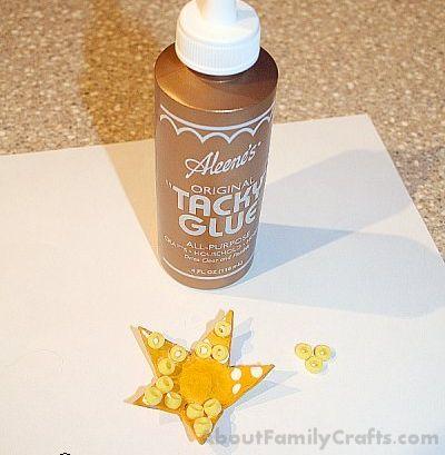glue beads onto starfish