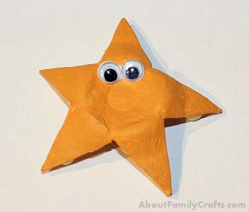 DIY Egg Carton Starfish