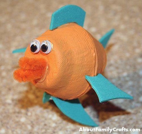 DIY Egg Carton Fish