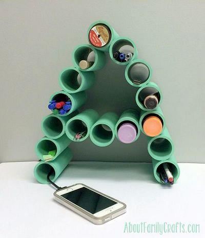 Make a Monogram Organizer Using PVC Pipe