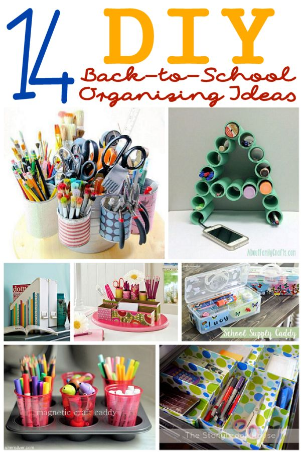 Diy Organization Ideas Part - 49: 14 DIY Organizing Ideas For Back-to-School