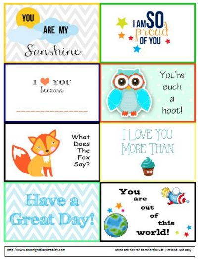 picture regarding Free Printable Lunchbox Notes named 20 No cost Printable Lunch Box Notes and Jokes Regarding Family members