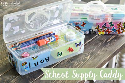 How to Make a School Supply Organizer Caddy