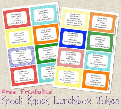 Knock Knock Lunchbox Jokes from Happy Go Lucky