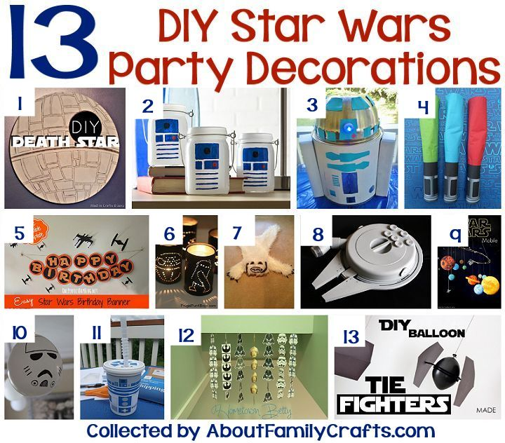 75 diy star wars party ideas about family crafts for Star wars dekoration