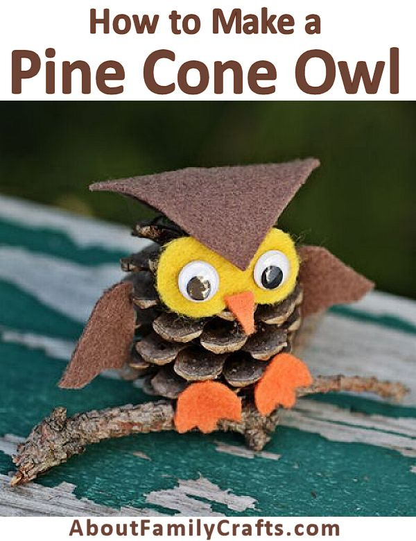 How to Make a Pine Cone Owl
