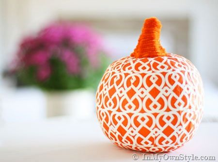 Napkin Covered Pumpkin