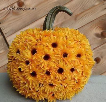 DIY Sunflower Pumpkin