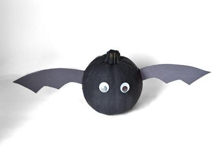 No-Carve Bat Pumpkins