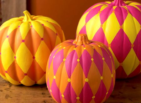 Harlequin DIY Pumpkins