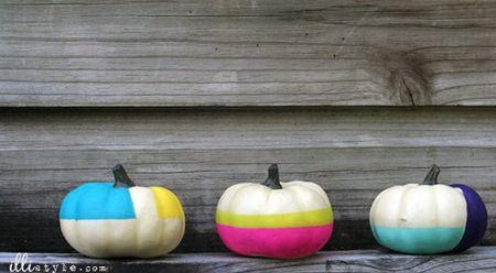 Color Block Pumpkins