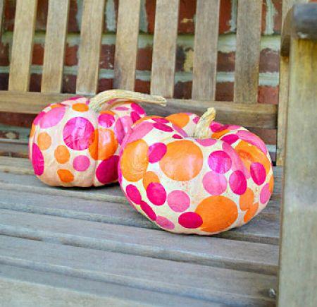 Tissue Paper Polka Dot Pumpkin