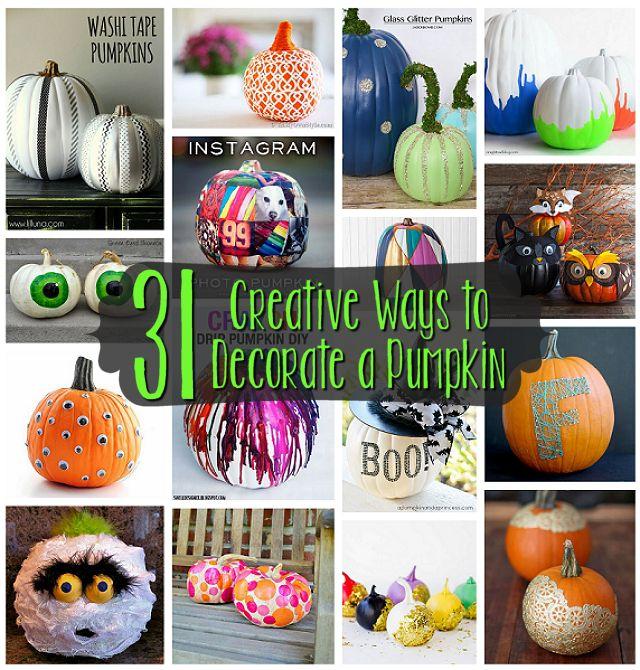31 Creative Ways to Decorate a Pumpkin