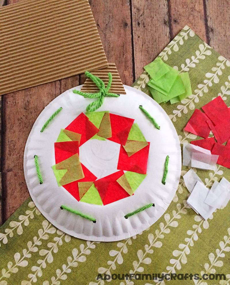 How to glue tissue paper to paper plate