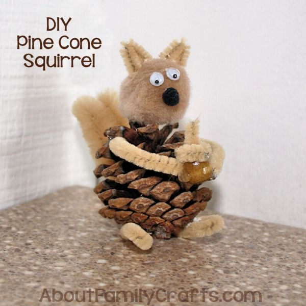 DIY Pine Cone Squirrel Craft