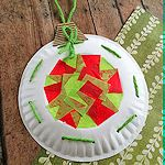 DIY Paper Plate Christmas Ornament