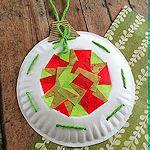 DIY Paper Plate Christmas Ornament