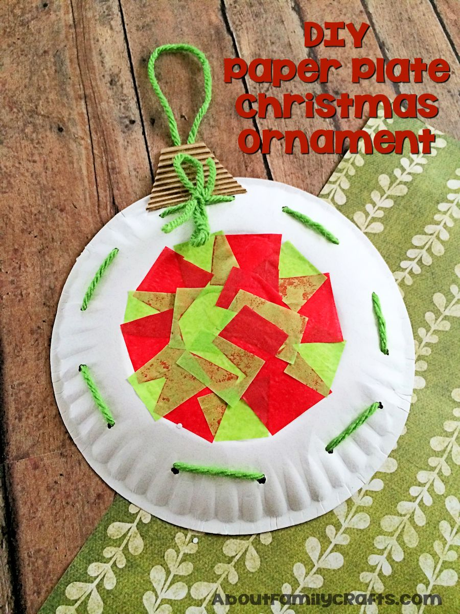 How to make a christmas decoration out of paper - Diy Paper Plate Christmas Ornament Decoration Craft