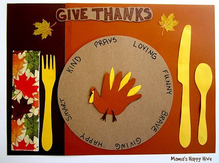 Gratitude Turkey Placemat
