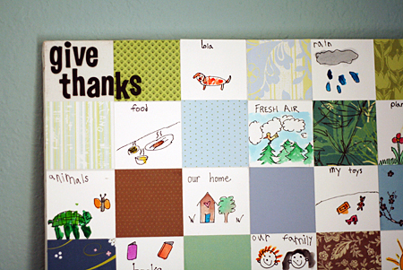 Give Thanks Paper Quilt