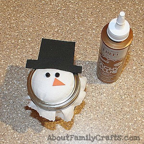 snowman candy jar add eyes