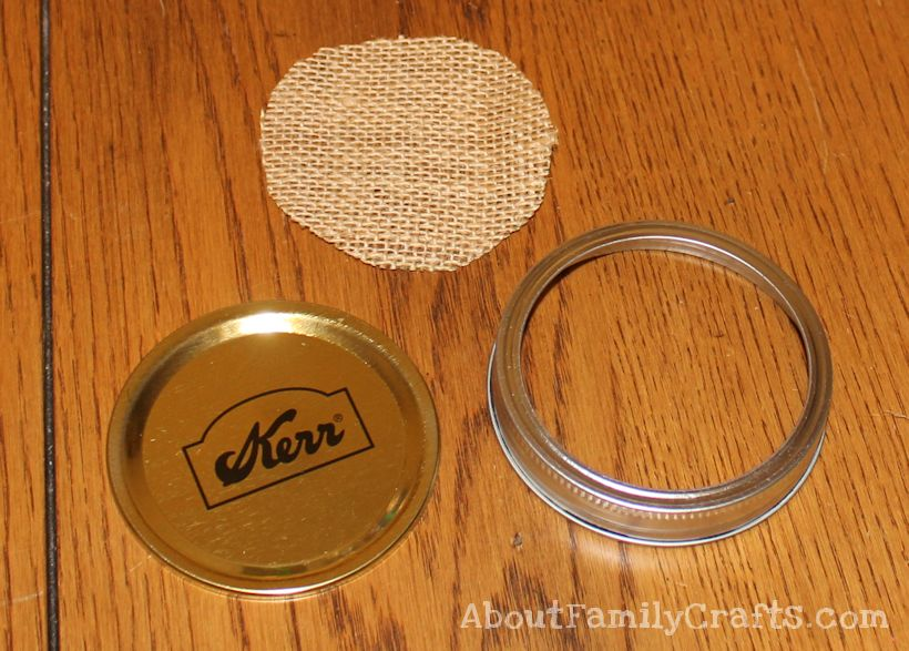 candy mony holder jar lid