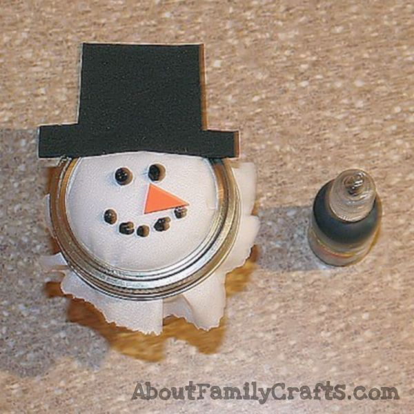 snowman candy jar add mouth