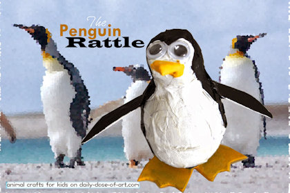 Penguin Rattle Craft