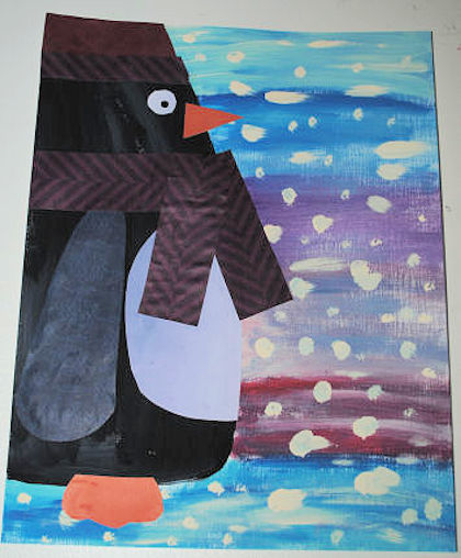 Penguin Collage craft