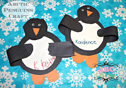 Arctic Penguin Craft Project
