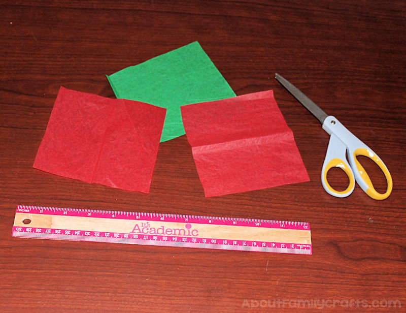 Candy Kiss Tissue Paper Rose cut squares