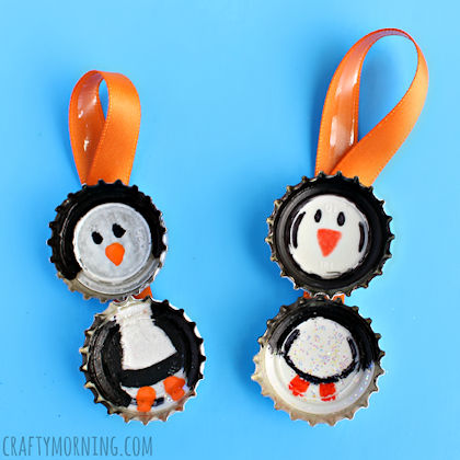Bottle Cap Penguin Project