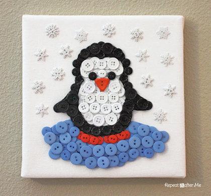 Penguin Button Art Project