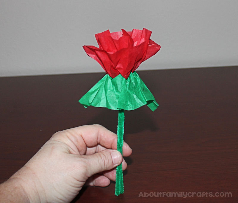 Candy Kiss Tissue Paper Rose fold up 2nd tissue