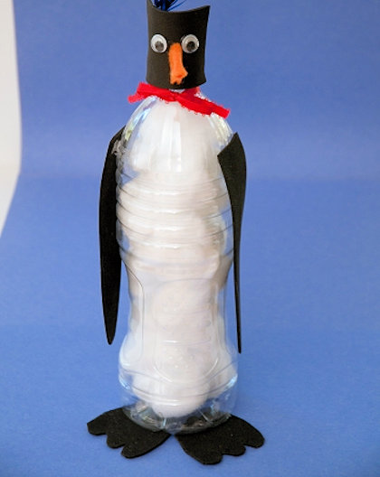 Plastic Bottle Penguin Craft