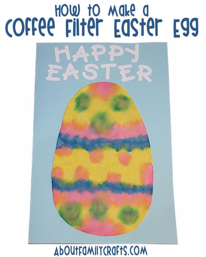 DIY Coffee Filter Easter Egg