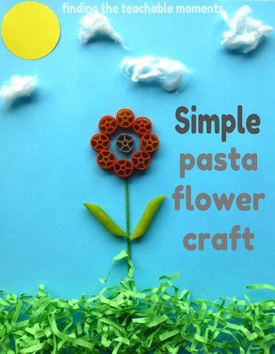 Simple Pasta Flower