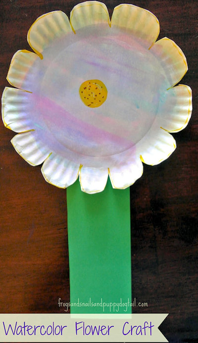 Watercolor Flower Craft